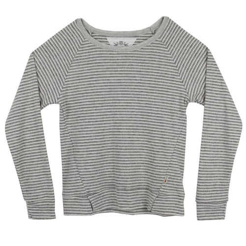T2Love Striped Crew Sweater