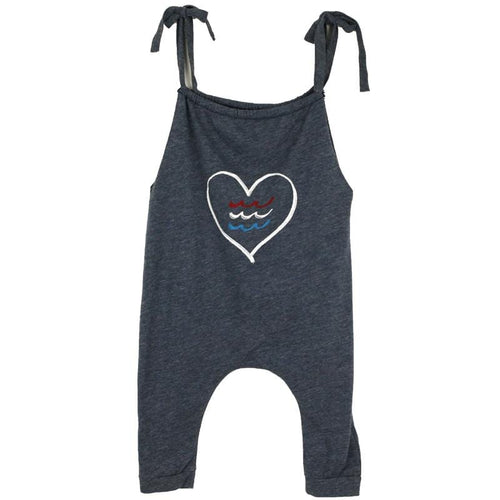 Sol angeles baby girl heart tank romper