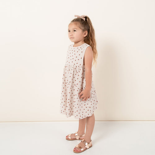 Rylee and Cru light pink strawberry sleeveless girls dress