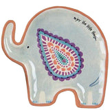 Elephant trinket dish with colorful painting