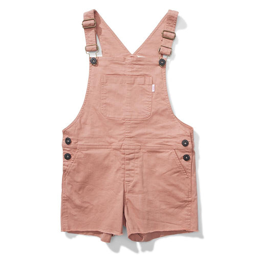 Girls light pink short overalls