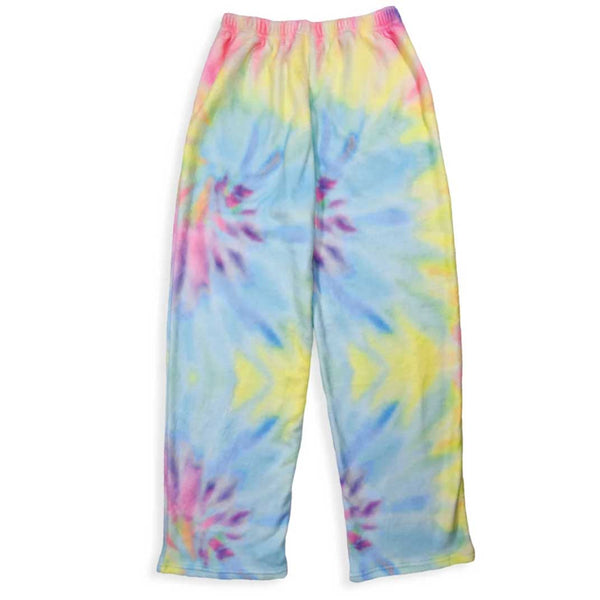 iScream Pastel Tie Dye Girls Plush Pants