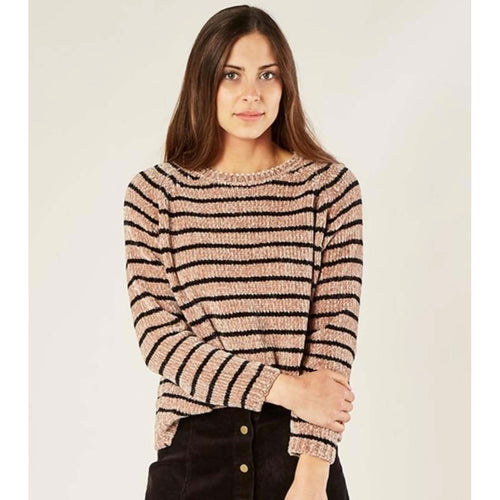 Rylee and Cru Tween & Women's Striped Chenille Sweater