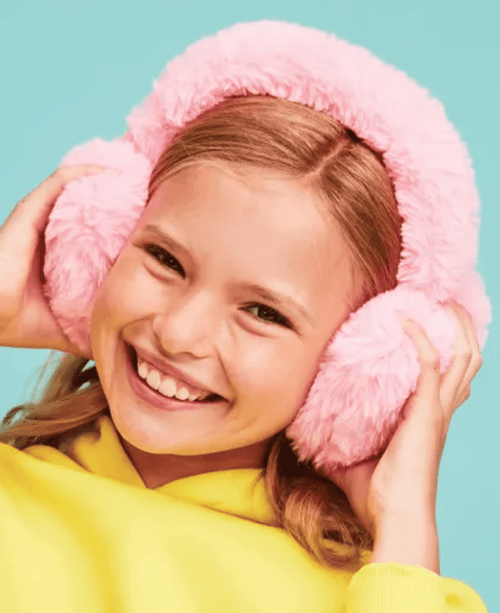 iScream Furry Heart Ear Muffs