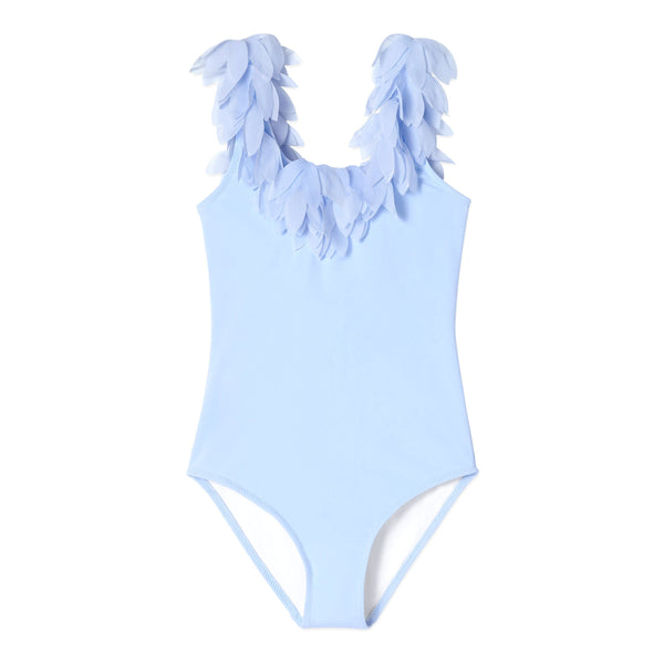 Stella cove blue petal one piece girls swimsuit