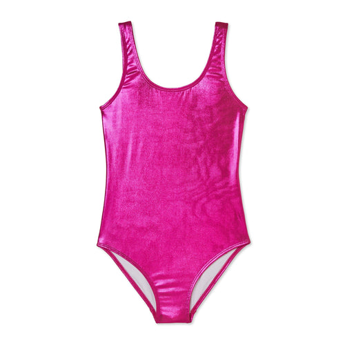 Stella cove pink metallic girls one piece swimsuit
