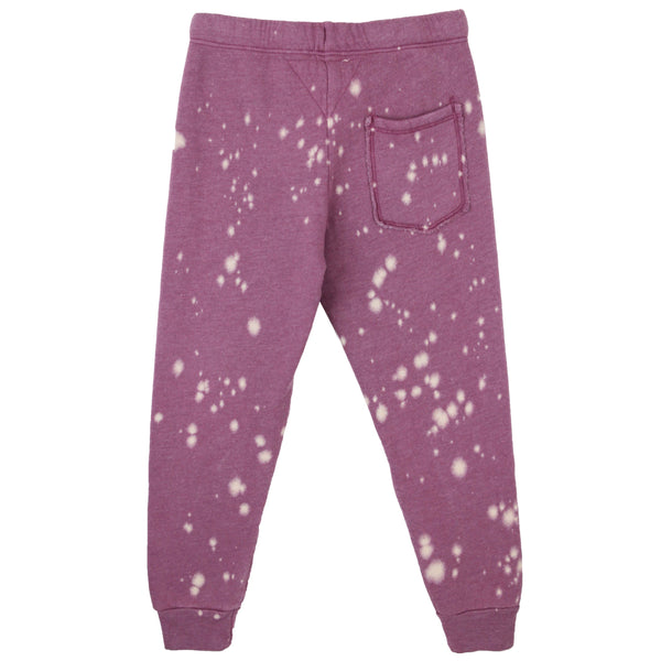 T2Love Plum Paint Splatter Girls Sweatpants