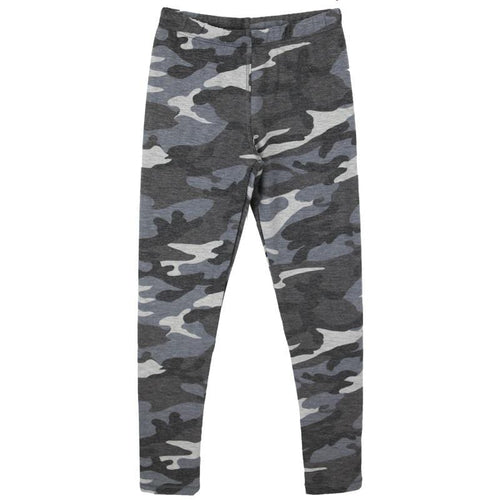 Grey camo tween and girl leggings T2Love