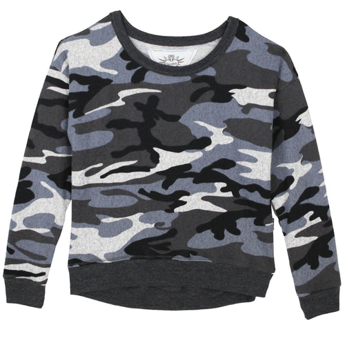 Grey camo tween girl sweatshirt by T2Love