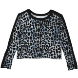 Animal print T2Love girl and tween cropped sweatshirt