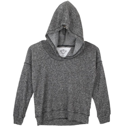 Plush grey girls cropped hoodie by T2Love