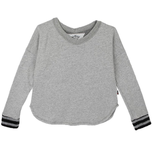 Grey girls sweatshirt for trendy tweens by T2Love