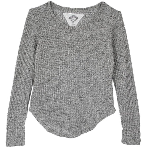 Grey thermal girls top by T2Love