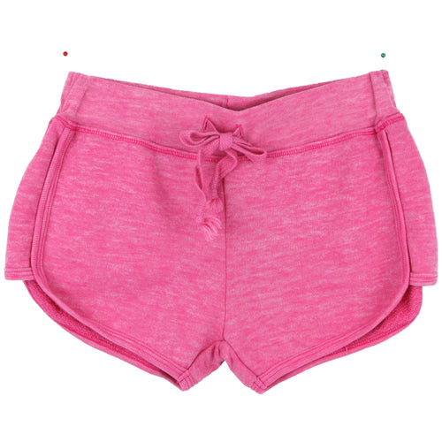 Hot pink girls track shorts