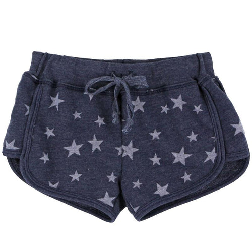 T2Love Navy Star Girls Track Shorts