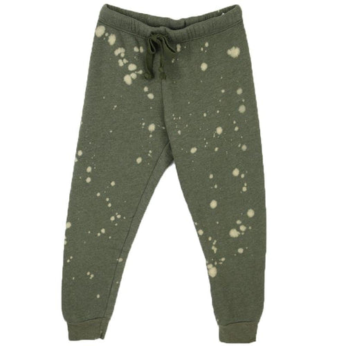 Olive green trendy tween tie dye jogger pants by T2Love