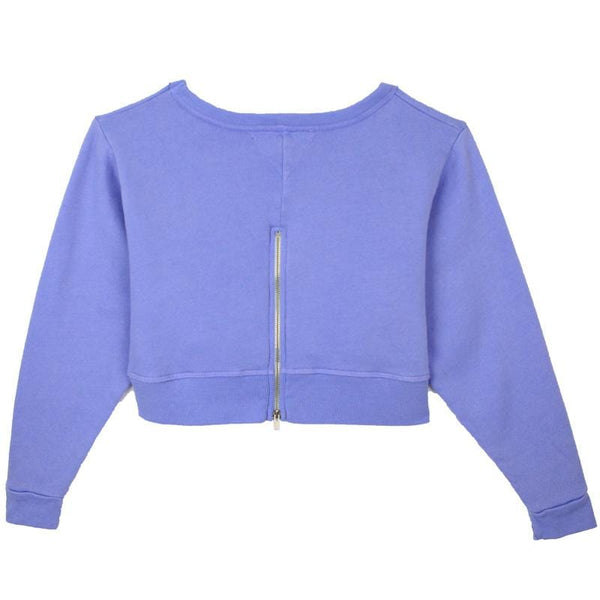 T2Love purple zip back tween girl sweatshirt