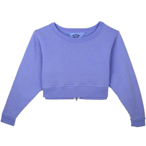 Purple tween girl cropped sweatshirt  by T2Love