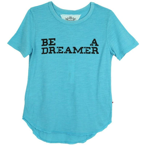 T2Love Girls Turquoise Dreamer Graphic Tee