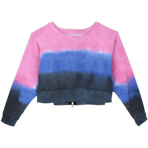 Tie dye tween cropped sweatshirt by T2Love