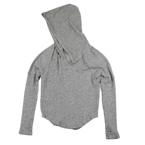 T2Love grey hooded girls thermal hoodie