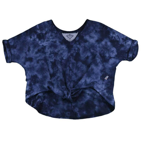 T2love girls tween blue tie dye short sleeve tee shirt