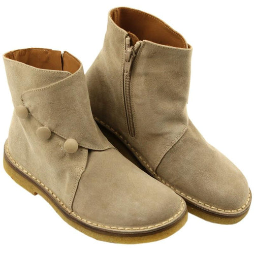 Pepe tan suede girls ankle boots