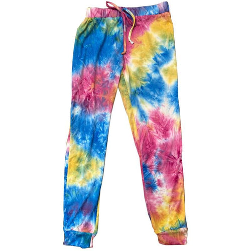 Stoopher Rainbow Tie Dye Girls Joggers