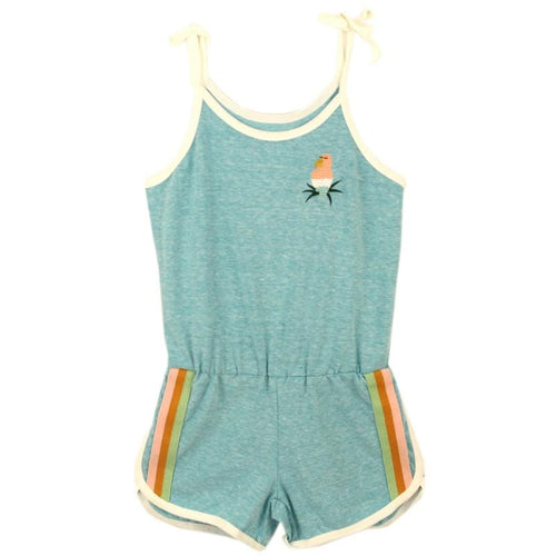 Tiny whales turquoise shorts tween, toddler and girls romper