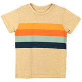 Tiny whales short sleeve yellow stripe toddler and boys t shirt