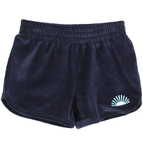 Girls navy blue short shorts with elastic waist