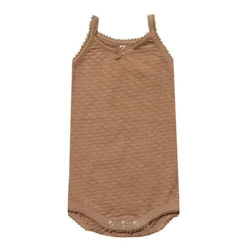 Baby girl copper pointelle onesie