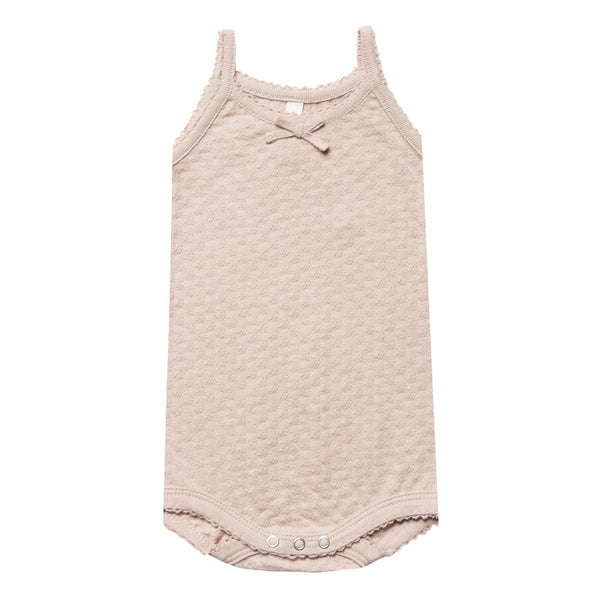 baby girl rose pointelle tank onesie