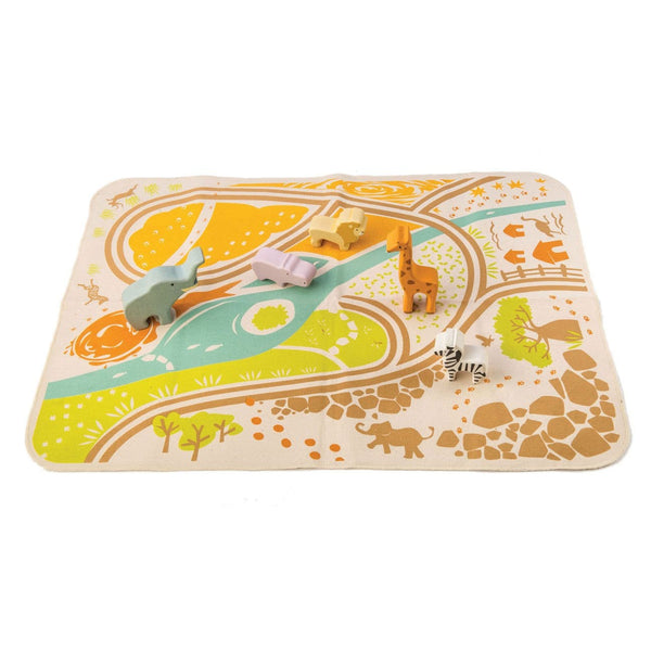 Tender Leaf Safari Play Mat Set
