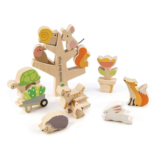Tender Leaf Garden Animals Wooden Stacking Toy