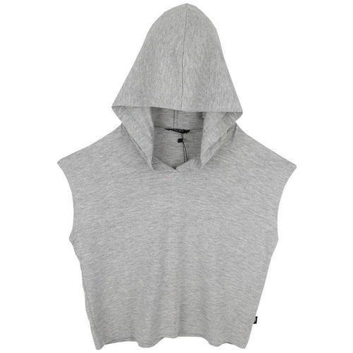 Girls grey hooded cropped top