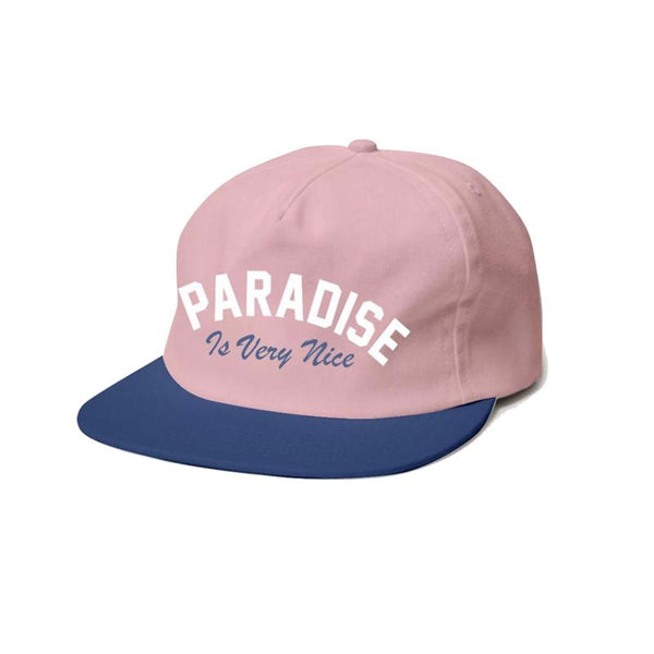 Girls light pink paradise trucker hat