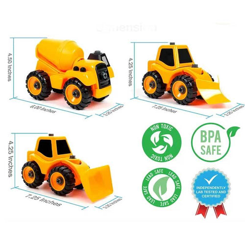 Building construction car toy set for boys