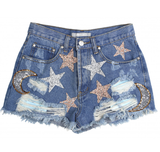 Tractr Star + Moon Embellishment Tween Shorts