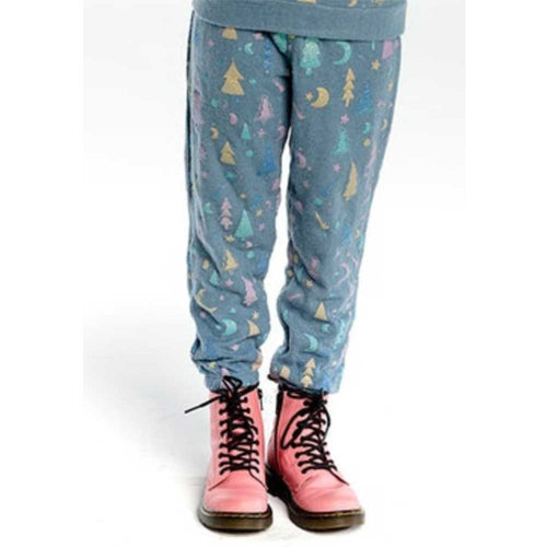 Chaser Blue Trees Love Knit Girls Sweatpants