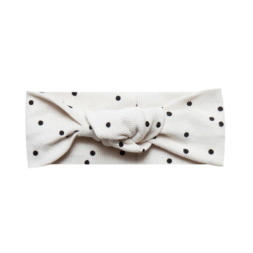 Baby girl polka dot turban headband
