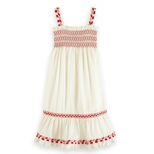 Scotch R'Belle Off White Boho Girls Dress