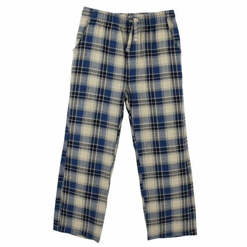 Blue plaid boys lounge pants