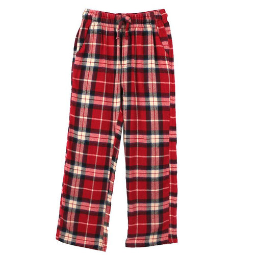 Red plaid boys lounge pants