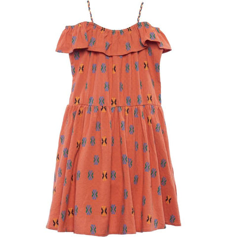 Wander + Wonder Ginger Aztec Estela Girls Dress