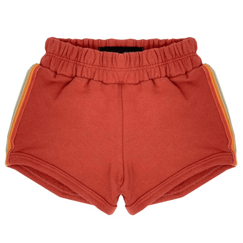 Wee monster orange knit girls shorts with elastic waist