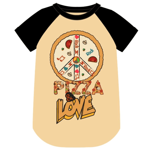 Wee monster pizza graphic raglan boys t-shirt