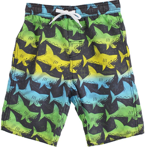 Rebel Shark Swim Trunks by Wes and Willy - Little Skye Children's Boutique