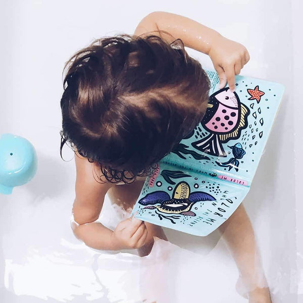 baby bath book with ocean theme