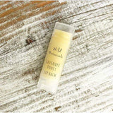 Tube of natural lavender honey lip balm for kids.